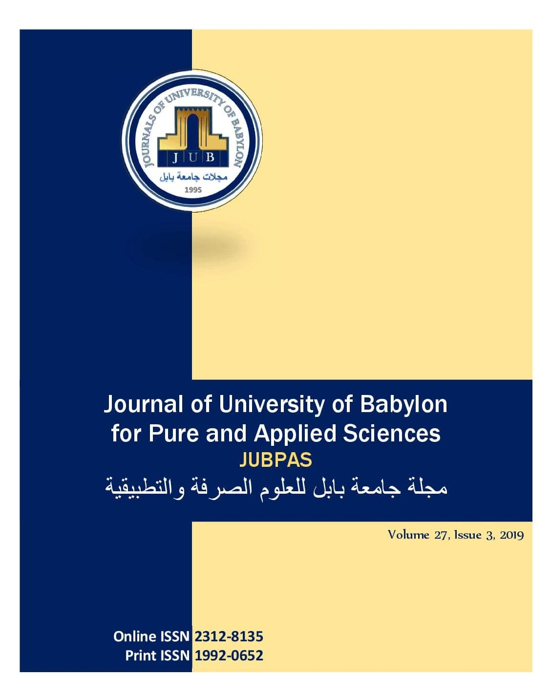JUBPAS, vol. 27, no. 3, 2019